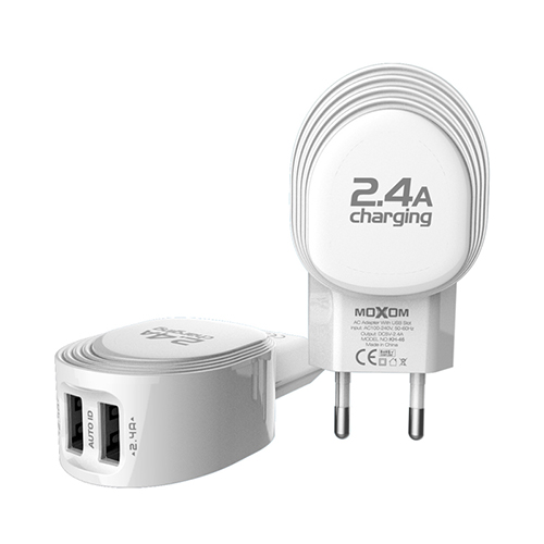 2-Ports Wall Charger Adapter With Micro USB Cables