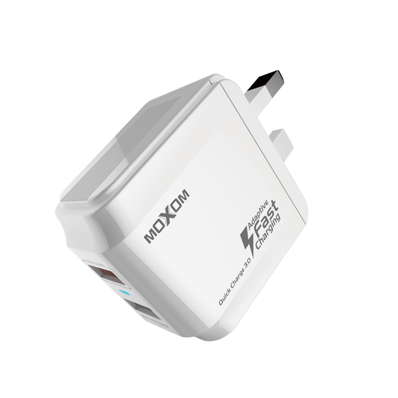 Quick Charge3.0 AUTO ID 2.4A Dual USB Wall Charger