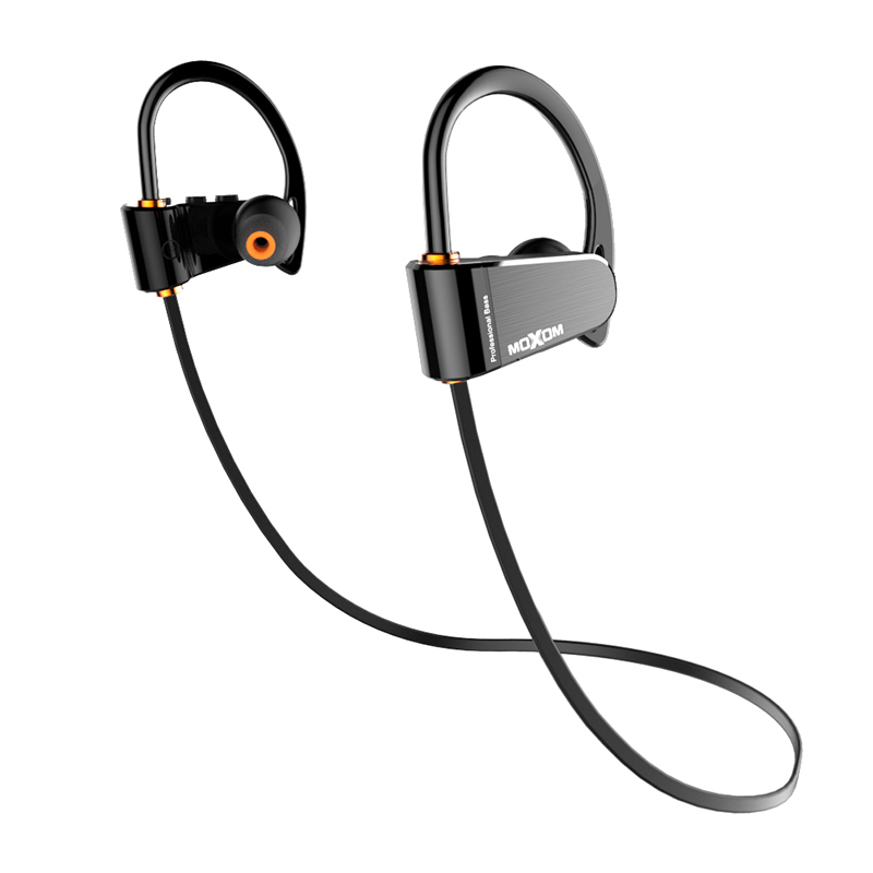 Bluetooth Headphones, MOXOM IPX7 Waterproof Bluetooth 4.1 Wireless Sports Earphones HD Stereo in-Ear Earbuds with Mic for Swim, Diving