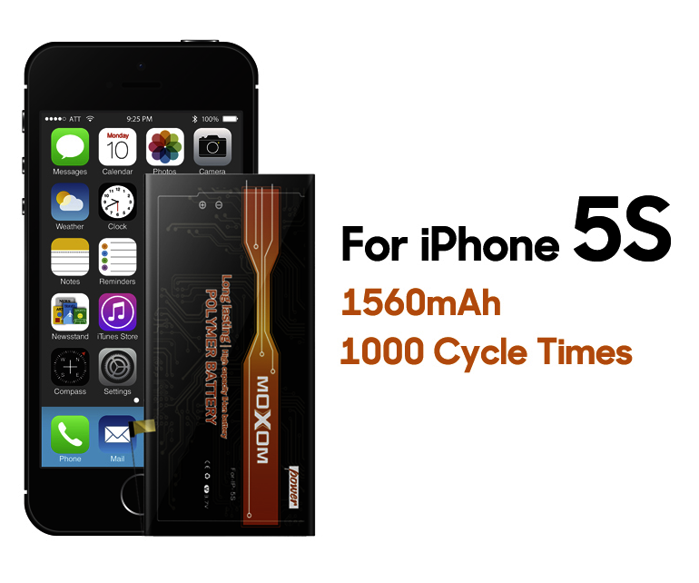 1560mAh High Capacity Original Li-ion Battery For iphone 5s