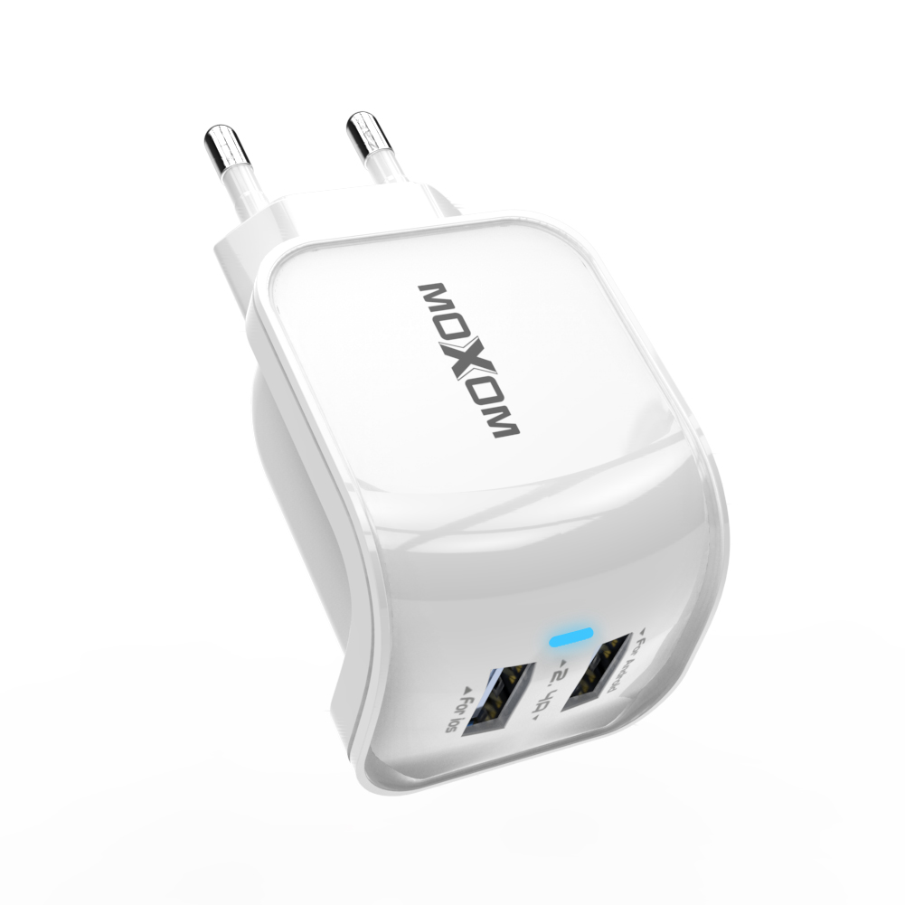 EU Plug Dual USB Charger For iPhone iPad 5V 2.4A USB Wall Charger Dual Ports Charger Adapter For Samsung Mobile Phone Charger