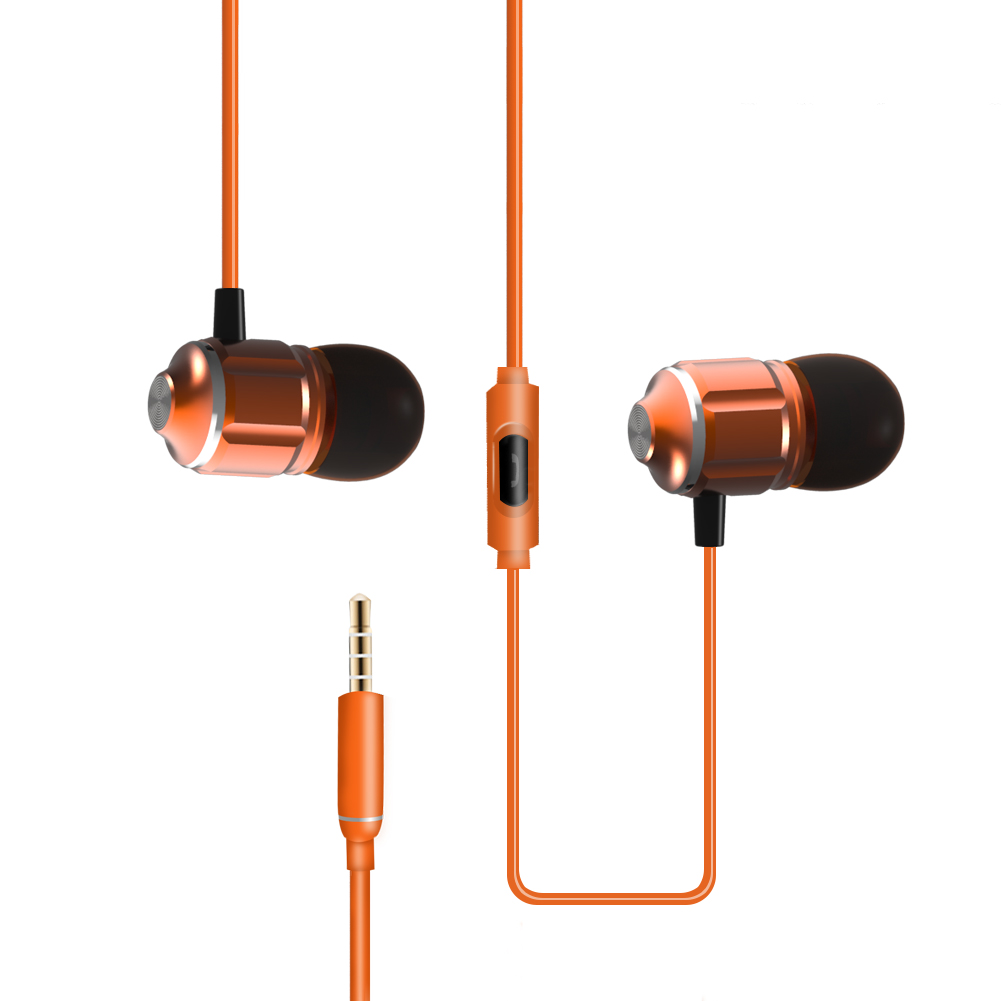 In-Ear Earphones With Remote Control & Mic Noice Cancelling Earbuds