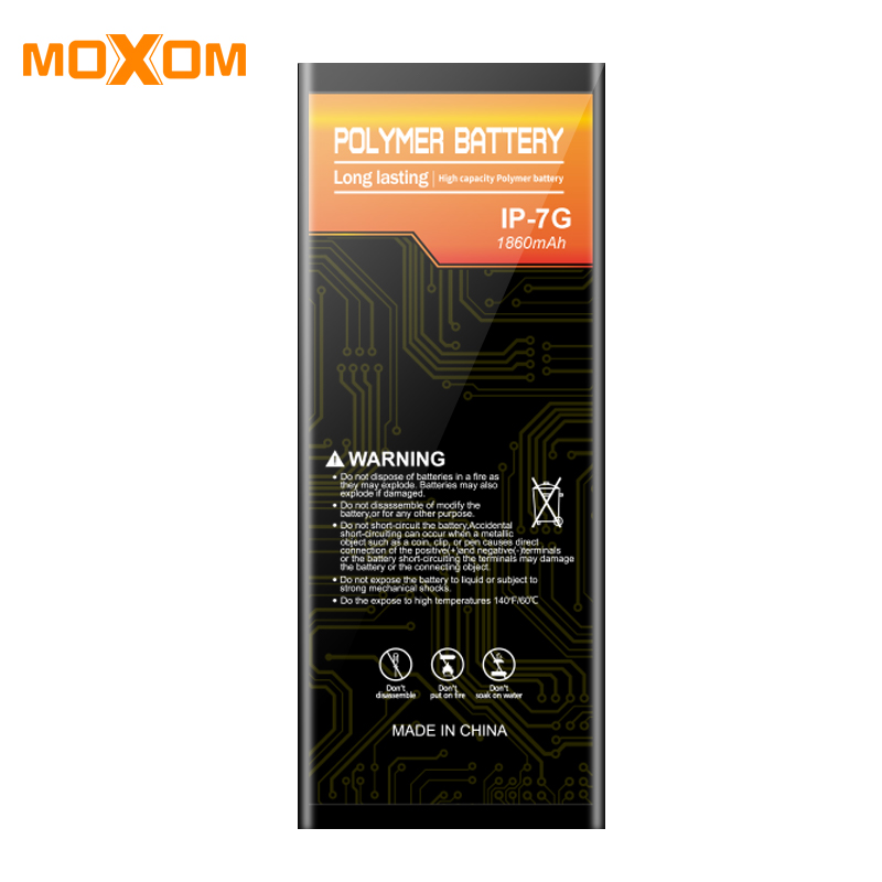 Battery For iphone 7G 1860mAh High Capacity Mobile Phone Battery Lithium Polymer Phone Bateria Free Tools PC Box