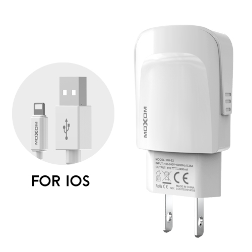 2.4A Charge Universal USB Fast Charger EU US Plug Wall USB Charging Charger Adaptor